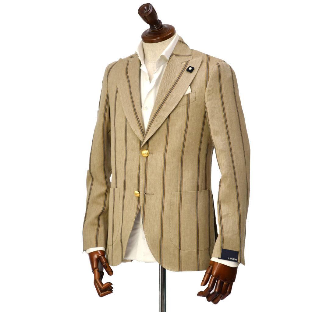LARDINI【ラルディーニ】ピークドシングルジャケットをご紹介致します。