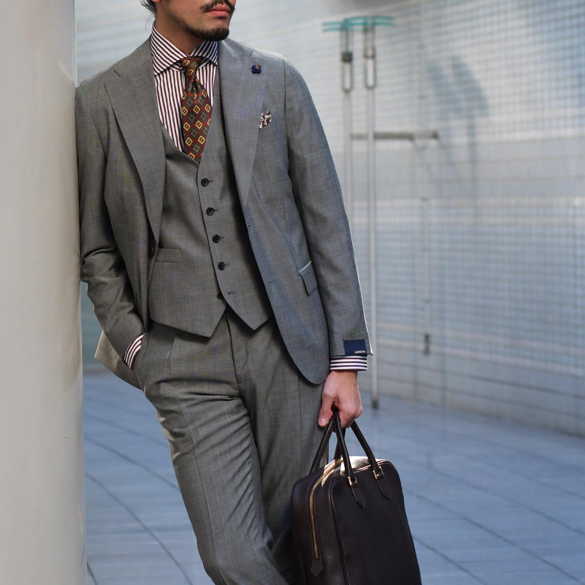 大人爽やかなスーツスタイル!LARDINI【ラルディーニ】