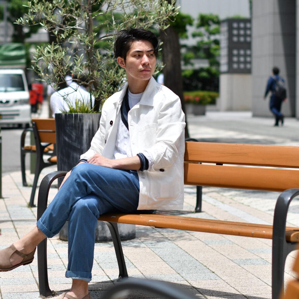 梅雨に負けない大人のBLUE & WHITEスタイル!!LARDINI【ラルディーニ】