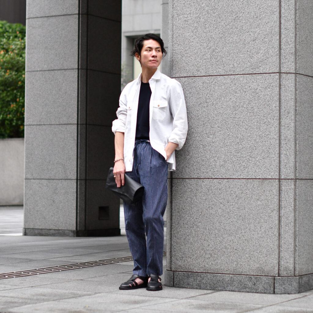 夏に負けない羽織る白シャツ!BARBA DANDY LIFE【バルバ ダンディライフ】