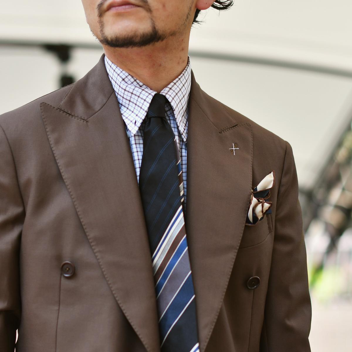 史上最高に綺麗なブラウンスーツ!De Petrillo【デ ペトリロ】