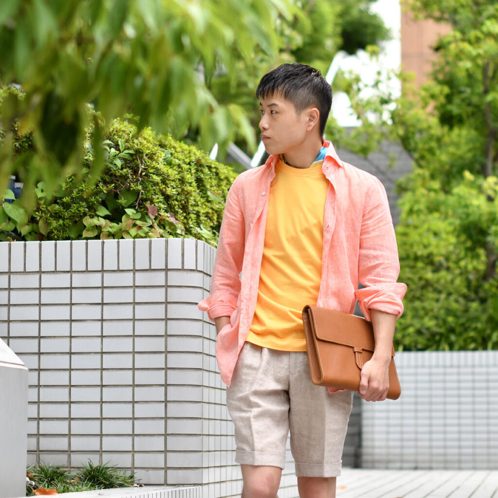 夏の着こなしを色で情熱的に!!Finamore【フィナモレ】