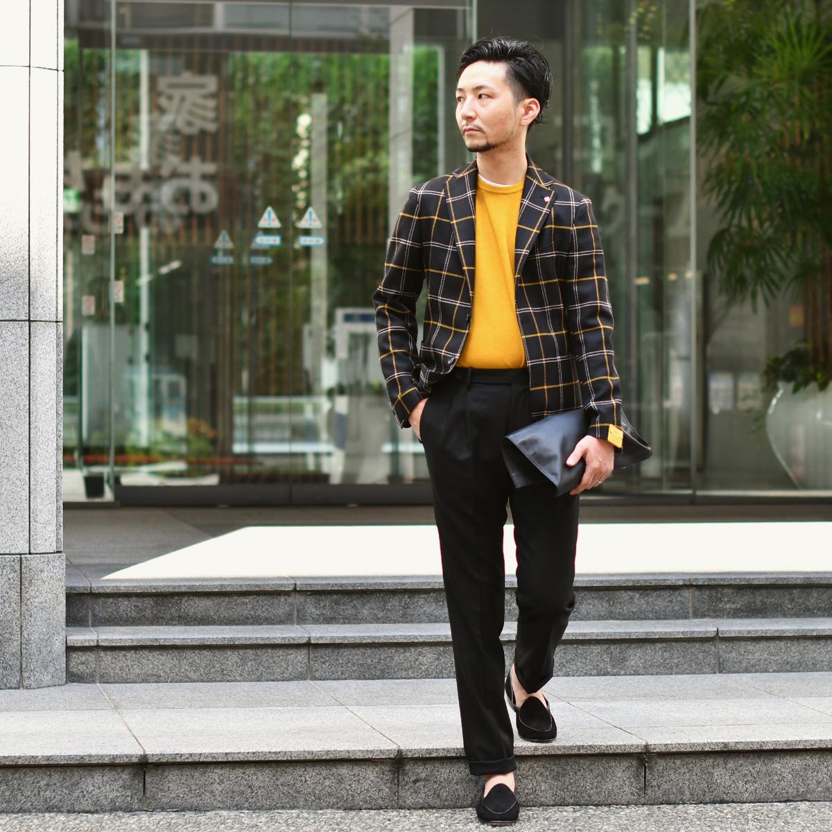 黒×黄×白でアクティヴモノトーン!!!TAGLIATORE【タリアトーレ】