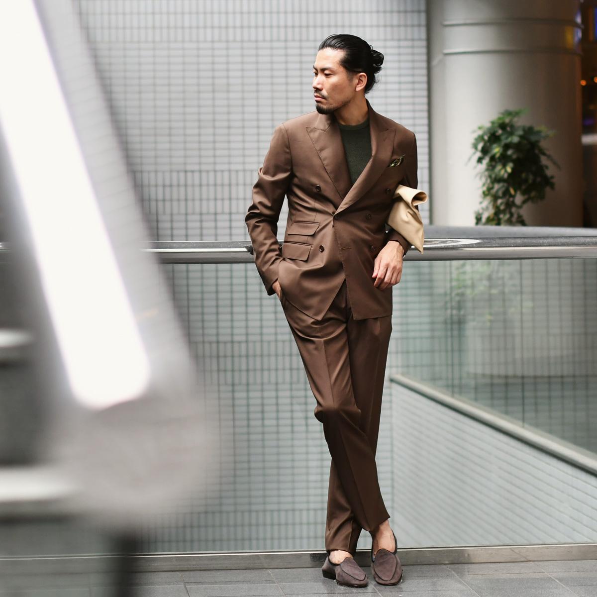 最上級スーツでドレスダウンスタイル!!De Petrillo【デ ペトリロ】