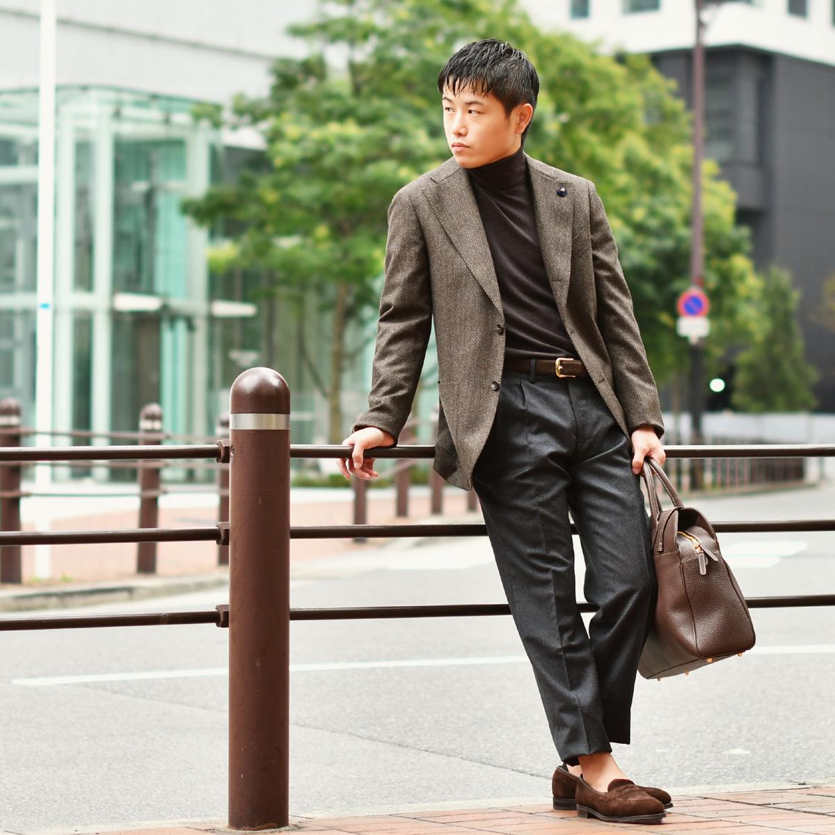 BROWN & GREYで纏めた大人のジャケットスタイルLARDINI【ラルディーニ】