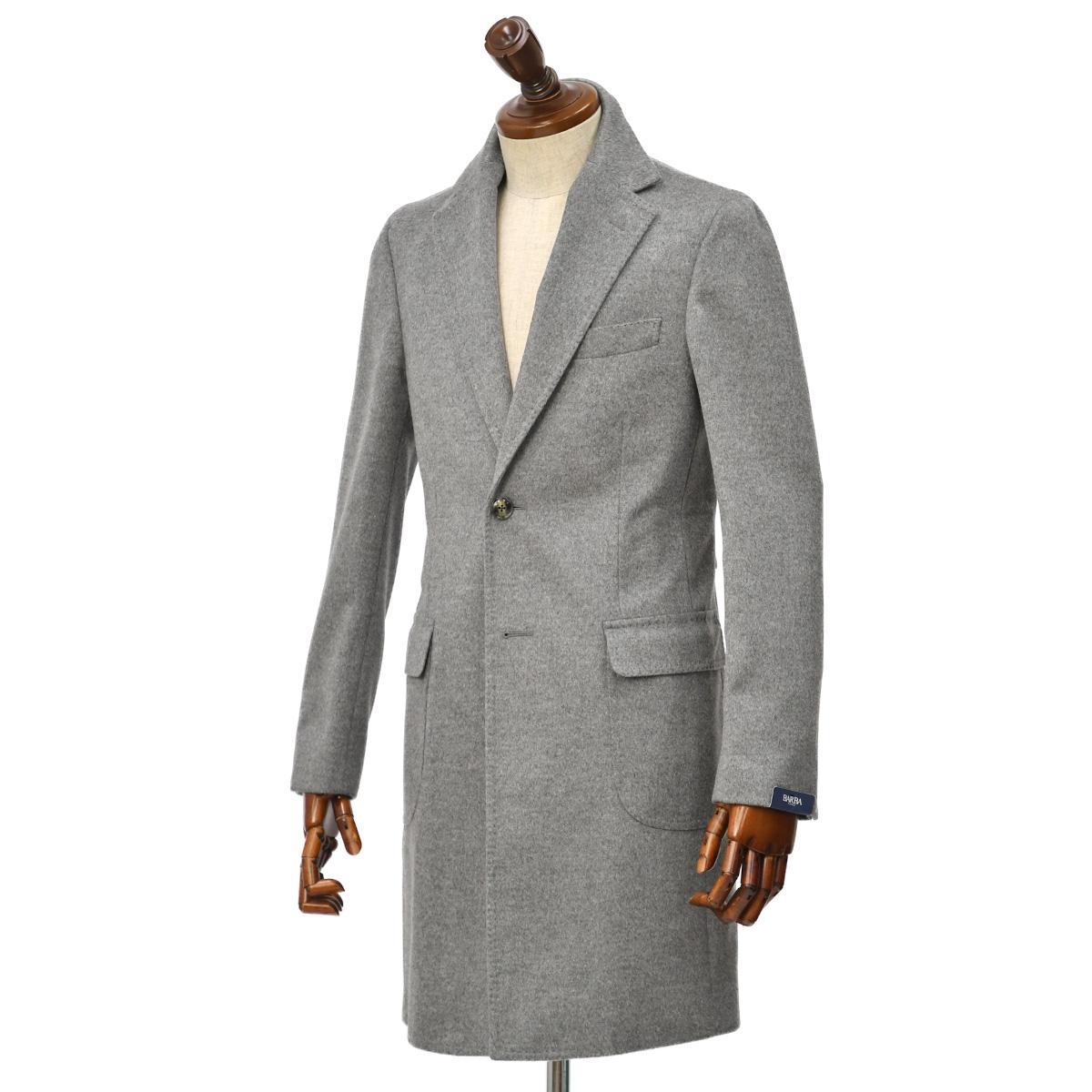BARBA【バルバ】カシミアシングルチェスターコートをご紹介致します。