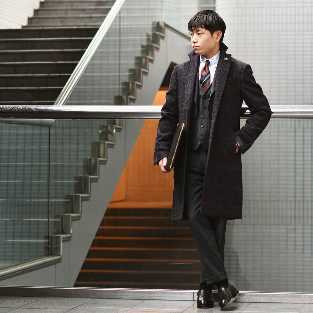 男性的でシックなスーツスタイル!LARDINI【ラルディーニ】