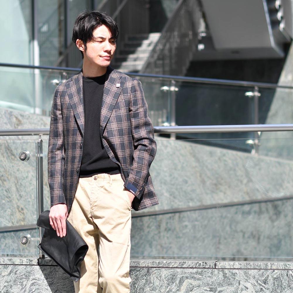 シンプルなまとめで大人に魅せるジャケットスタイル!LARDINI【ラルディーニ】
