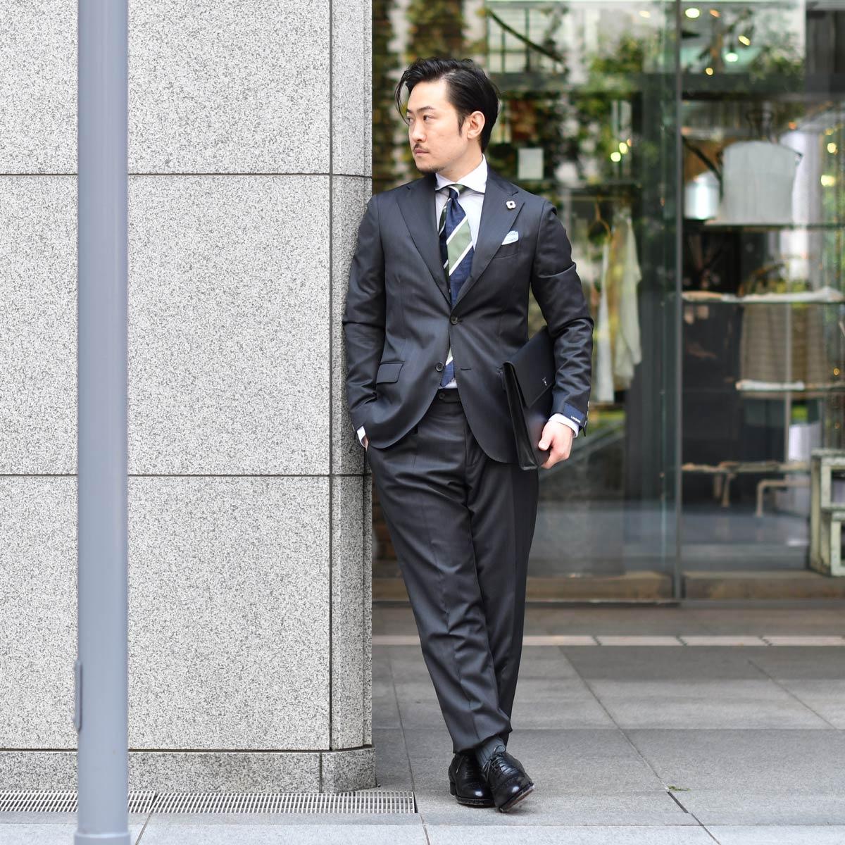 大人の色気とリッチ感薫るスーツスタイル!!LARDINI【ラルディーニ】