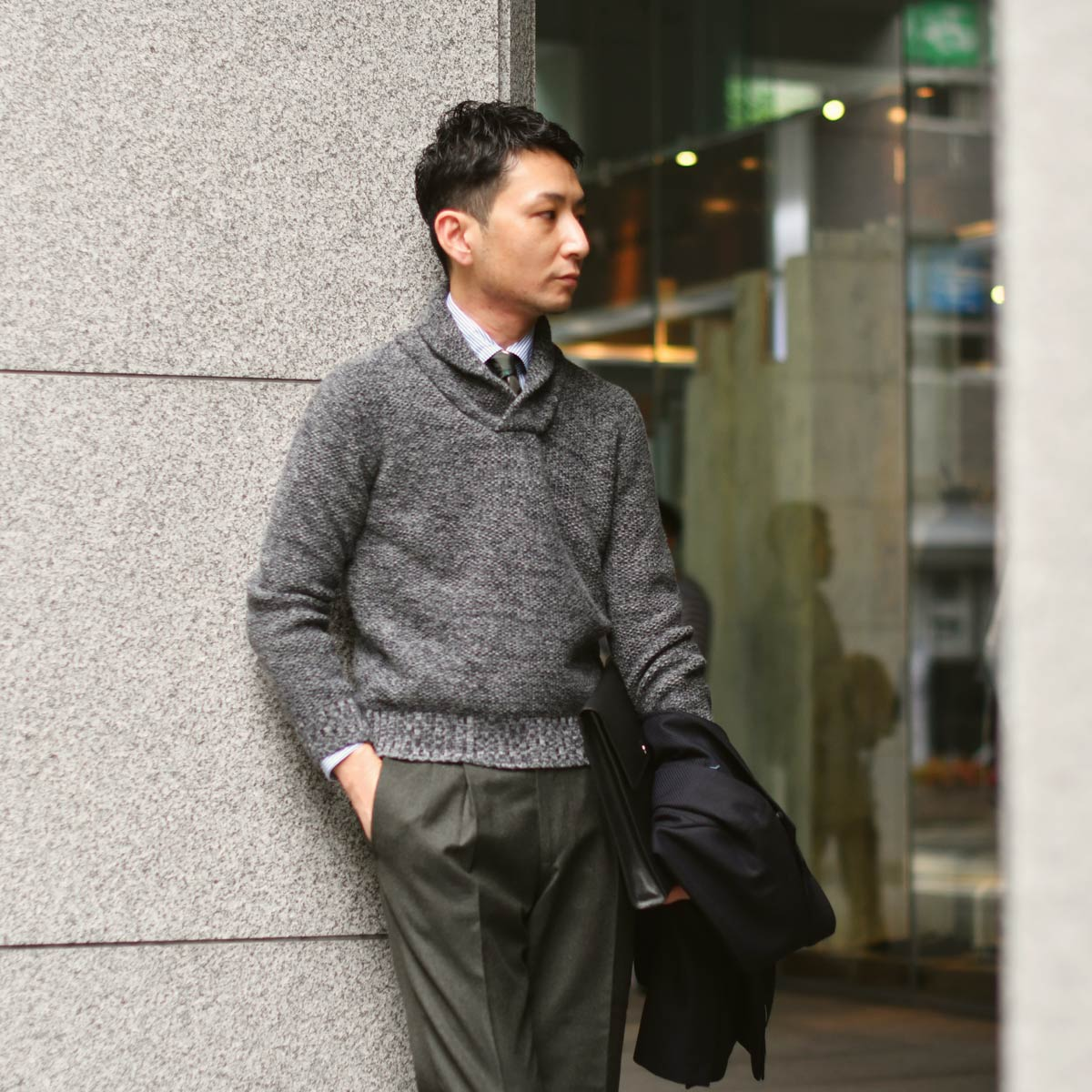 気品漂う柔らかな印象のジャケットスタイル!!TAGLIATORE【タリアトーレ】